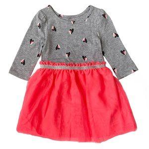 Toddler Heart Long Sleeve Tee & Tulle Dress